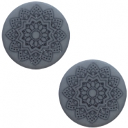 20 mm flach Cabochon Polaris Elements Mandala print Rustic blue