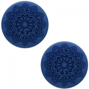 12 mm flach Cabochon Polaris Elements Mandala print Radiant blue