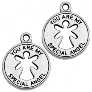 "Metall Anhänger DQ ""you are my special angel"" Antik silber (nickelfrei)"