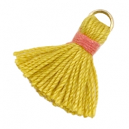 Perlen Quaste Ibiza Style 1.5cm Gold-mustard yellow-indian red