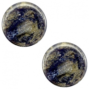 7 mm flach Cabochon Polaris Elements Stardust Midnight blue