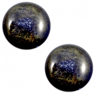 12 mm classic Cabochon Polaris Elements Stardust Midnight blue