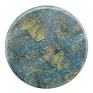 35 mm flach Cabochon Polaris Elements Stardust Blue shade