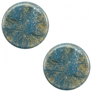 7 mm flach Cabochon Polaris Elements Stardust Blue shade