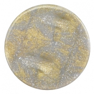 35 mm flach Cabochon Polaris Elements Stardust Grey