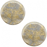 7 mm flach Cabochon Polaris Elements Stardust Grey