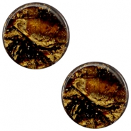7 mm flach Cabochon Polaris Elements Stardust Dark smoke topaz