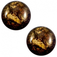 12 mm classic Cabochon Polaris Elements Stardust Dark smoke topaz