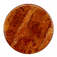 35 mm flach Cabochon Polaris Elements Stardust Topaz brown