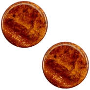20 mm flach Cabochon Polaris Elements Stardust Topaz brown