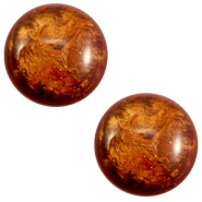 12 mm classic Cabochon Polaris Elements Stardust Topaz brown