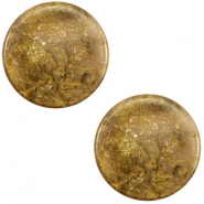 20 mm flach Cabochon Polaris Elements Stardust Warm taupe brown