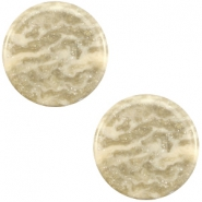 12 mm flach Cabochon Polaris Elements Stardust Sand beige
