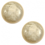 12 mm classic Cabochon Polaris Elements Stardust Sand beige
