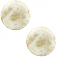 20 mm flach Cabochon Polaris Elements Stardust Cream white