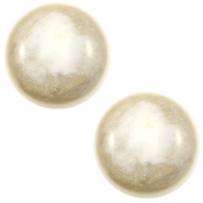 20 mm classic Cabochon Polaris Elements Stardust Cream white