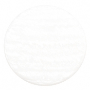 35 mm flach Cabochon Polaris Elements Sparkle dust White