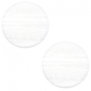 7 mm flach Cabochon Polaris Elements Sparkle dust White