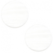 12 mm flach Cabochon Polaris Elements Sparkle dust Ivory white