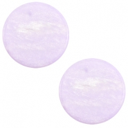 7 mm flach Cabochon Polaris Elements Sparkle dust Lilac purple