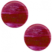 20 mm flach Cabochon Polaris Elements Sparkle dust Violet purple