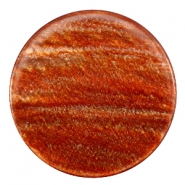 35 mm flach Cabochon Polaris Elements Sparkle dust Copper brown