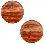7 mm flach Cabochon Polaris Elements Sparkle dust Copper brown