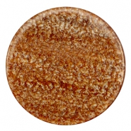 35 mm flach Cabochon Polaris Elements Sparkle dust Light chocolate brown