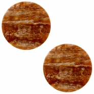 12 mm flach Cabochon Polaris Elements Sparkle dust Light chocolate brown