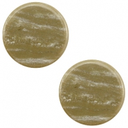 7 mm flach Cabochon Polaris Elements Sparkle dust Khaki brown