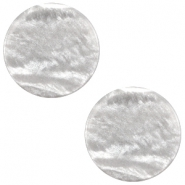 7 mm flach Cabochon Polaris Elements Sparkle dust Ice grey