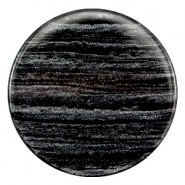 35 mm flach Cabochon Polaris Elements Sparkle dust Anthracite black