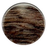 35 mm flach Cabochon Polaris Elements Sparkle dust Dark brown