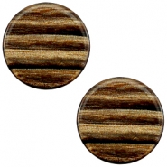 20 mm flach Cabochon Polaris Elements Sparkle dust Smoke topaz