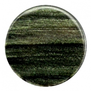 35 mm flach Cabochon Polaris Elements Sparkle dust Dark classic green
