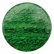 35 mm flach Cabochon Polaris Elements Sparkle dust Classic green