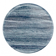 35 mm flach Cabochon Polaris Elements Sparkle dust Rustic blue