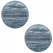 20 mm flach Cabochon Polaris Elements Sparkle dust Rustic blue