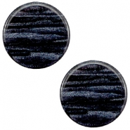 12 mm flach Cabochon Polaris Elements Sparkle dust Indigo blue