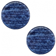 12 mm flach Cabochon Polaris Elements Sparkle dust Montana blue