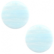 12 mm flach Cabochon Polaris Elements Sparkle dust Soft blue