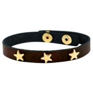 Armbänder mit Nieten gold Stern Dark chocolate brown