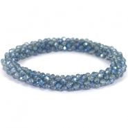 Facett Glas Armbänder Light montana-blue diamond coating