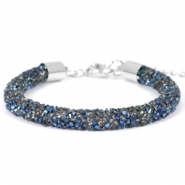 Crystal diamond Armbänder 7 mm Crystal-metallic blue