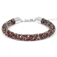 Crystal diamond Armbänder 7 mm Siam red-anthracite