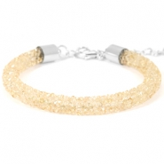 Crystal diamond Armbänder 7 mm Bisque beige
