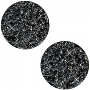 12 mm flach Cabochon Polaris Elements Goldstein Black