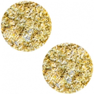 12 mm flach Cabochon Polaris Elements Goldstein Sunflower yellow