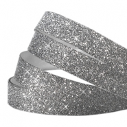 Crystal Glitzer tape 10mm Anthrazit