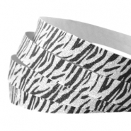 Crystal Glitzer tape animal print 10mm Silver-black